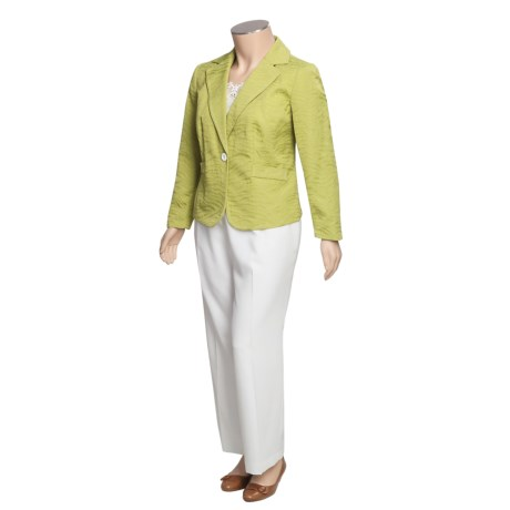 Isabella Cotton-Rich Pant Suit - Plus Size (For Women)