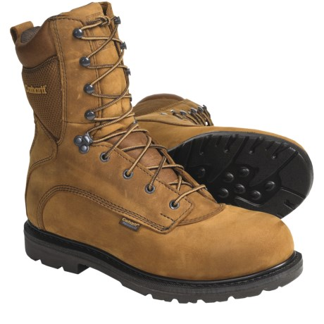 "Carhartt 8"" Work Boots - Waterproof, Leather (For Men)"