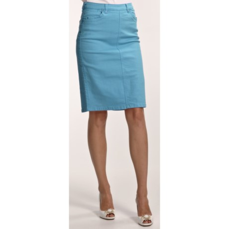 FDJ French Dressing Colored Jean Skirt (For Women)