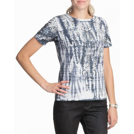 FDJ French Dressing Arabesque Print T-Shirt - Short Sleeve (For Women)