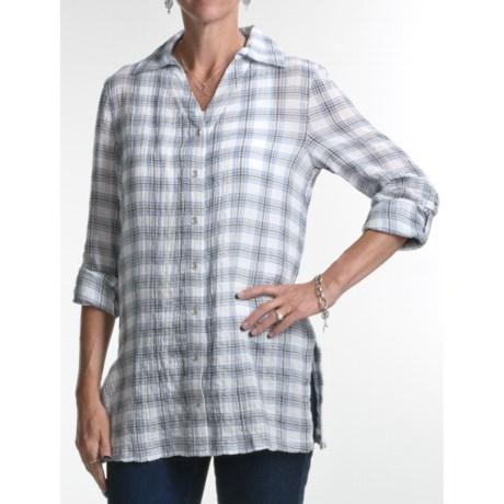 FDJ French Dressing Plaid Tunic Shirt - Long Sleeve (For Women)