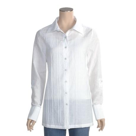 FDJ French Dressing Cotton Tunic Shirt - Long Sleeve (For Women)