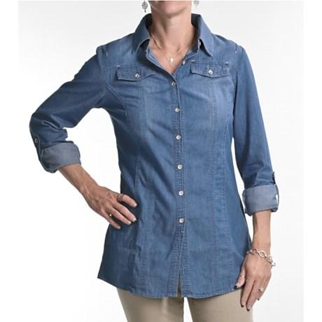 FDJ French Dressing Denim Tunic Shirt - Long Sleeve (For Women)
