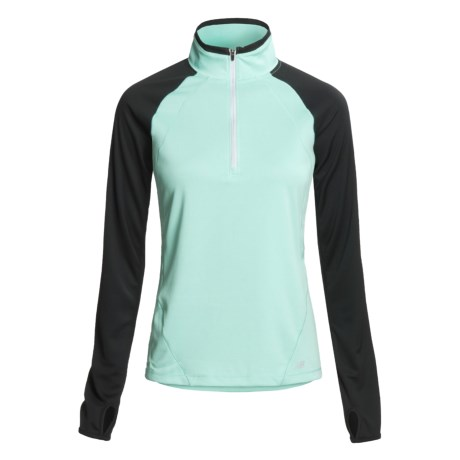 New Balance Cocona® Shirt - Zip Neck, Long Sleeve (For Women)