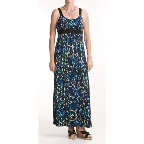 Chetta B Jersey Print Maxi Dress - Straps (For Women)