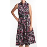Chetta B Printed Shirtwaist Dress - Sleeveless (For Women)
