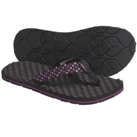 Simple Flippee Polka Sandals - Recycled Materials, Flip-Flops (For Women)