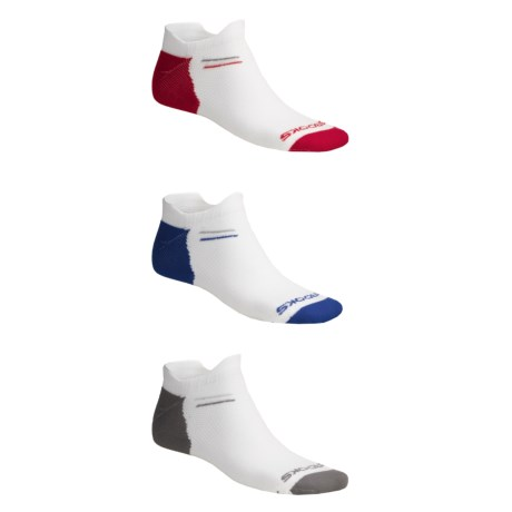Brooks Versatile Double-Tab Socks - 3-Pack, Lightweight, Below-the-Ankle (For Men and Women)