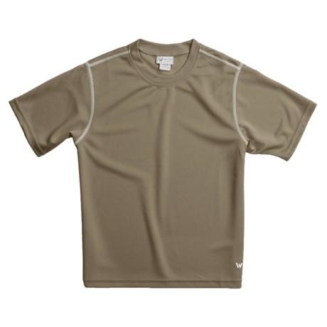 White Sierra Moisture-Wicking T-Shirt - Short Sleeve (For Boys)