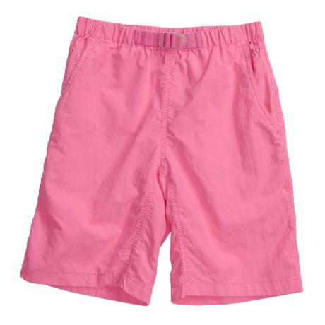 White Sierra Pigment-Dyed Shorts - UPF 30 (For Girls)