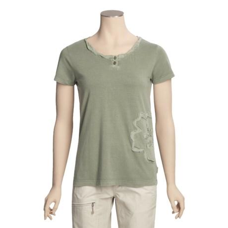 White Sierra Sugarloaf Henley T-Shirt - Short Sleeve (For Women)