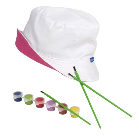 Wallaroo Self Design Art Hat - UPF 50+, Paint-it-Yourself (For Toddlers)
