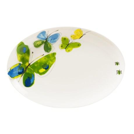 "Vera Papillion Dream Oval Platter - 12"", Bone China"