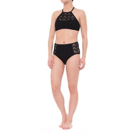 Coastal Zone by Jantzen Scallop Crochet High-Neck Bikini Set (For Women)