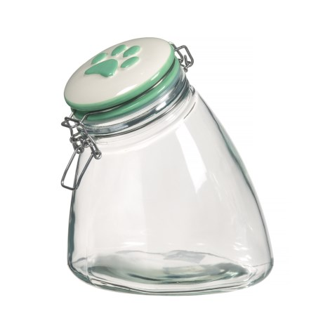 Amici Home Paw Rainbow Slope Dog Treat Jar - 56 oz., Green