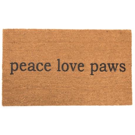 """SOHO Peace Love Paws Door Mat - 20x34"""""""