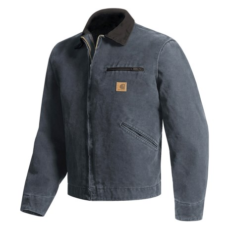 Carhartt Sandstone Detroit Jacket - Blanket Lined, Factory Seconds (For Tall Men)