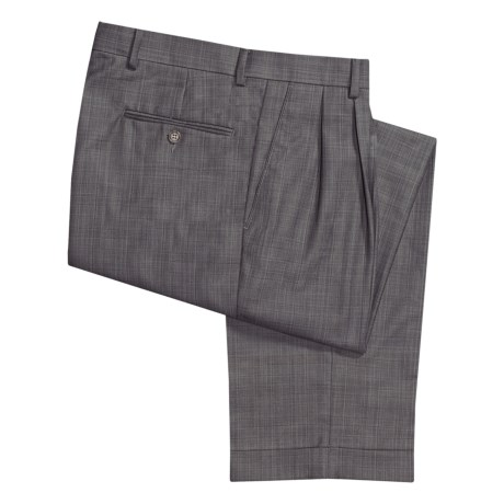 Ballin Dover Multi-Check Dress Pants - Pleated, Cuffed (For Men)