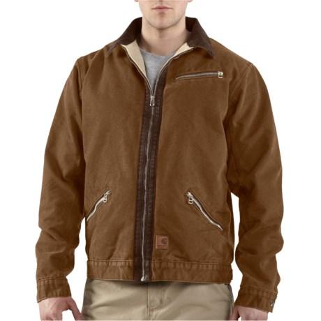 Carhartt Sandstone Detroit Jacket - Sherpa Lined (For Tall Men)