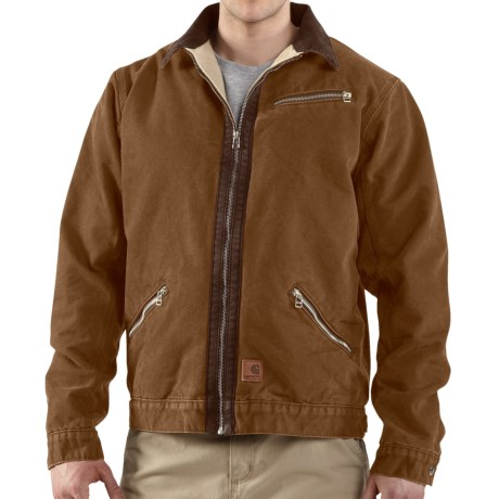 Carhartt Sandstone Detroit Jacket - Sherpa Lined (For Men)