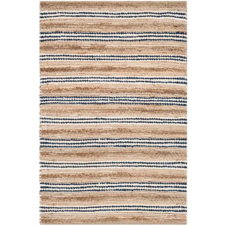 Safavieh Cape Cod Natural Blue Handwoven Area Rug - 3x5', Jute-Cotton