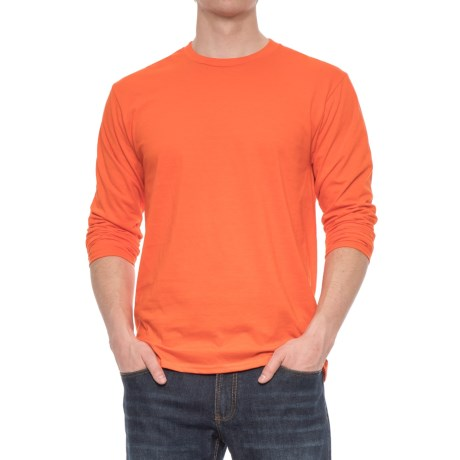 Specially made Crew Neck T-Shirt - Long Sleeve (For Men)