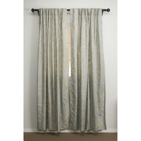 "Commonwealth Home Fashions Distinctly Home Jacquard Curtains - 100x84"", Back-Tab Top"