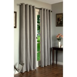 "Home Studio Livingston Curtains - 84"", Grommet-Top"