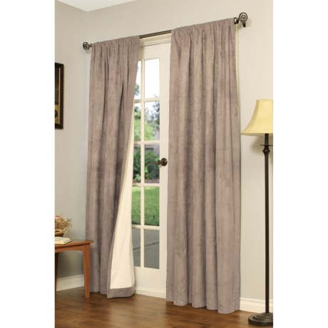 """Thermalogic Thermologic Apollo Curtains - 84"""", Pocket-Top, Microsuede"""