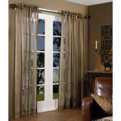 "Habitat Chenille Stripe Curtains - 100x84"", Pole-Top"