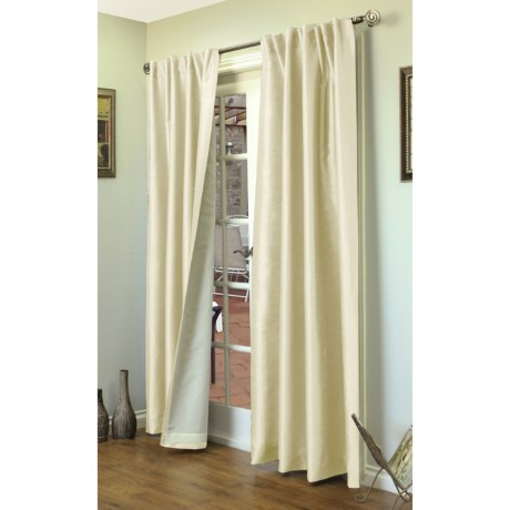 """Home Studio Ming Faux-Silk Curtains - 84"""", Back-Tab Top"""