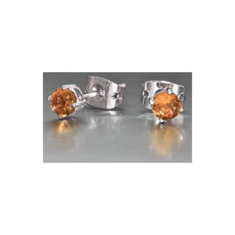 Jokara Birthstone Crystal Earrings - Sterling Silver
