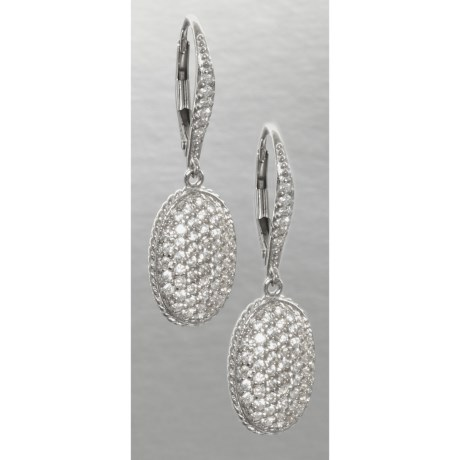 Jokara Cubic Zirconia Pave Earrings