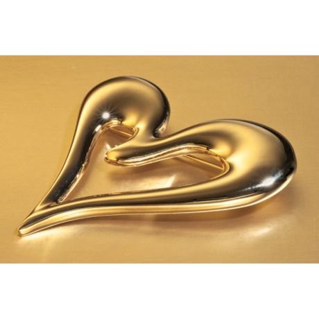 Jokara Gold Heart Pin