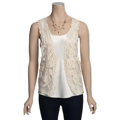 Carolina Amato Cotton Lace Vest (For Women)