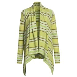 Knits with a Twist Lotus Cardigan Sweater - Pima Cotton (For Women)