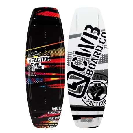 CWB Board Co. XFaction Wakeboard - Faction Bindings