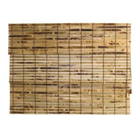 "Versailles Light-Filtering Bamboo Roman Shade - 48x72"""
