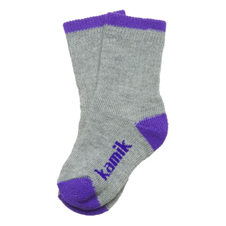 Kamik Jersey Cream ThermoCool® Socks - Midweight, Crew, Merino Wool (For Girls)