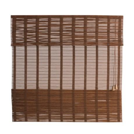 "Versailles Sun Sheer Bamboo Roman Shade - 48x64"""