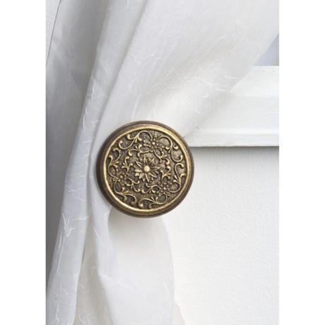 Versailles Filigree Medallion Curtain Hold Backs - Pair