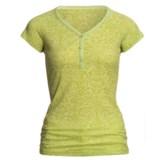 prAna Ally Henley Shirt - Burnout, Short Sleeve (For Women)
