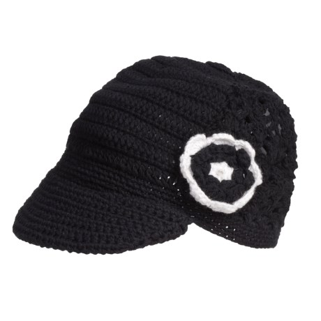 prAna Dusty Crochet Cabbie Cap - Crochet Flower Detail, Organic Cotton (For Women)