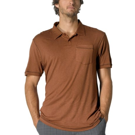 prAna Crosshatch Polo Shirt - Short Sleeve (For Men)