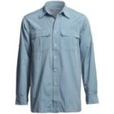 White Sierra High Ridge Loop Shirt - Roll-Up Long Sleeve (For Men)