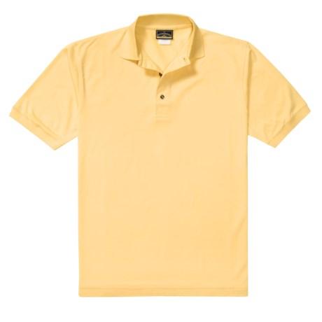 Outer Banks Pima Pique Polo Shirt - Double Mercerized, Short Sleeve (For Men)