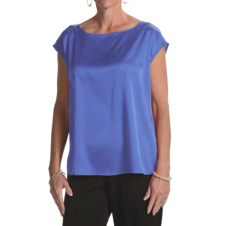 August Silk Charmeuse Wedge Shirt - Sleeveless (For Women)