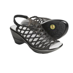 Jambu Milan Sandals - Leather, Wedge Heel (For Women)