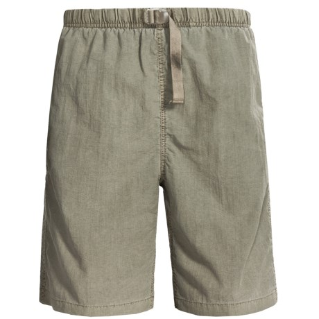 White Sierra Quick-Dry Nylon Shorts - UPF 30 (For Men)
