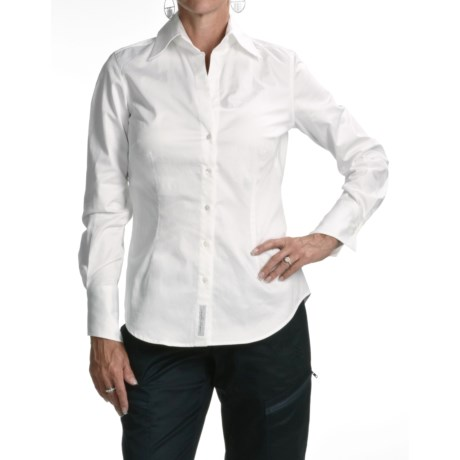 Audrey Talbott Angie Shirt -  Stretch Cotton Sateen, Long Sleeve (For Women)